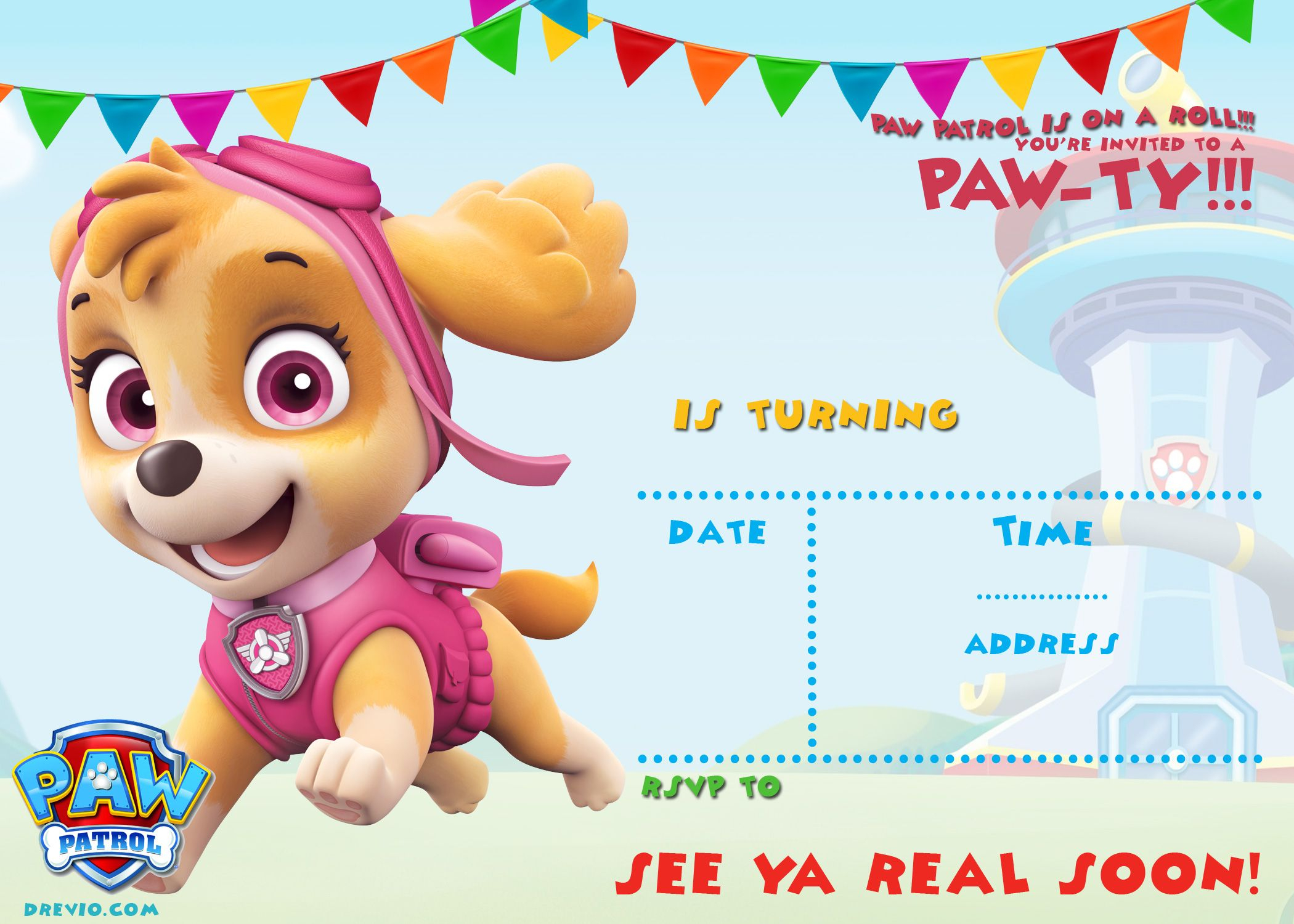 Free Printable Paw Patrol Invitation Template - All | Free - Free Printable Paw Patrol Invitations