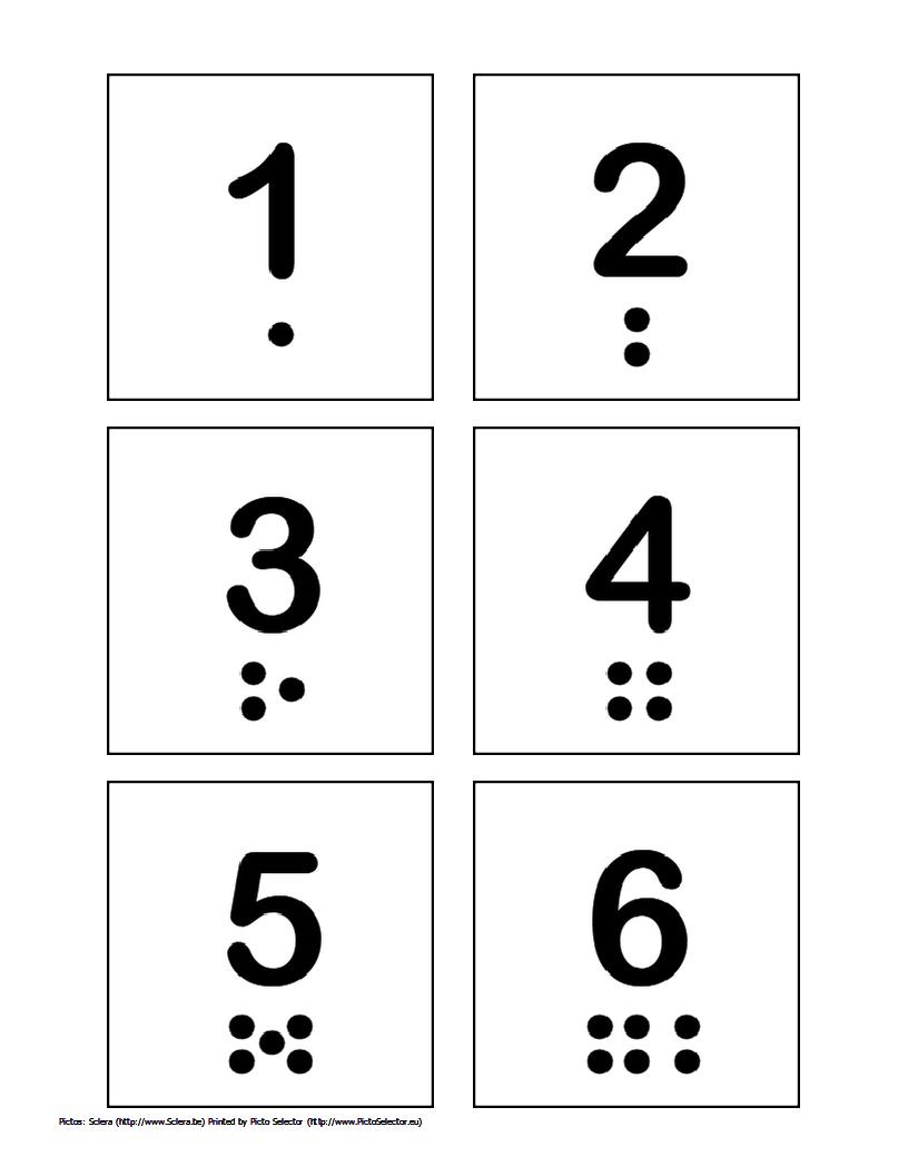 Free Printable Pecs – Numbers 1 Through 10 | Wordsofhisheart - Free Printable Numbers