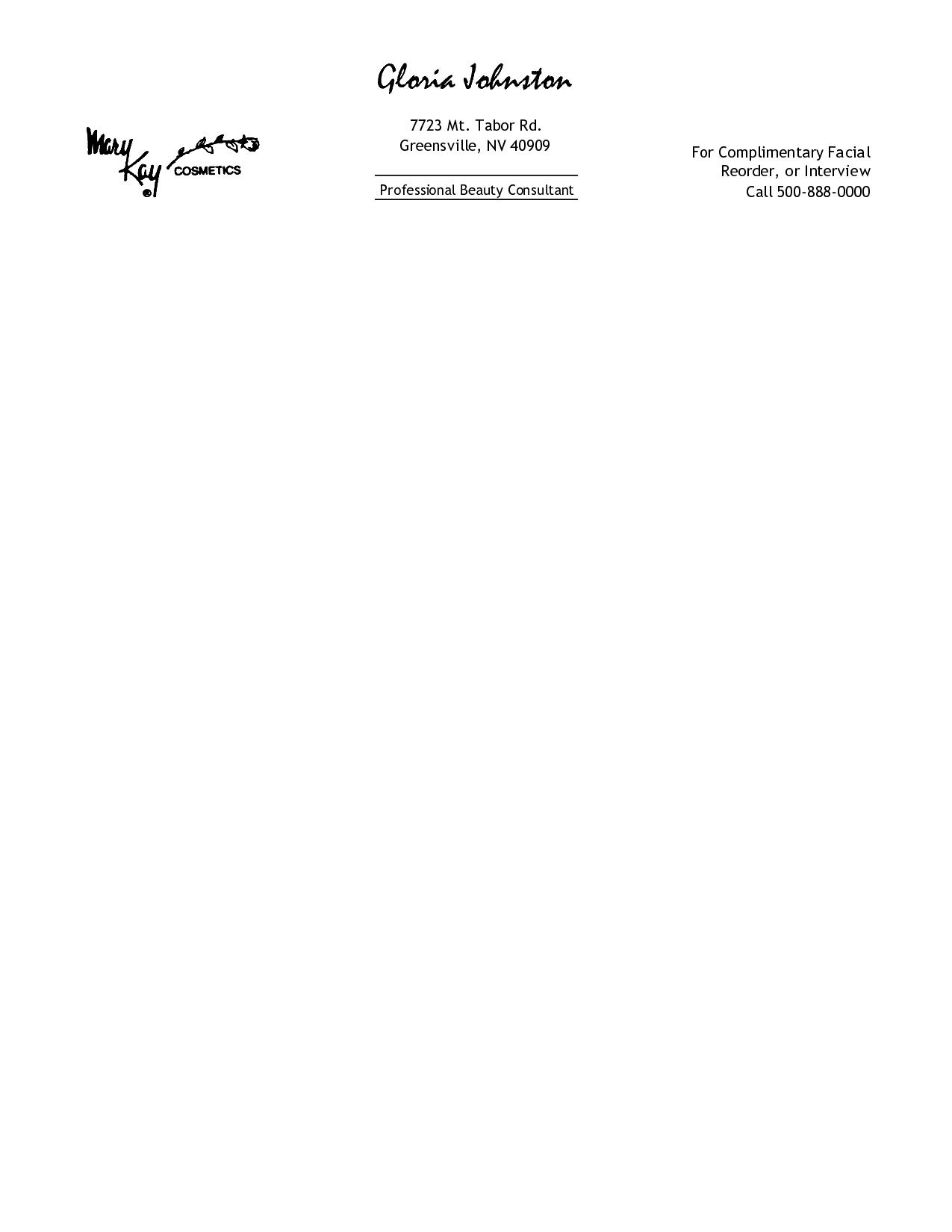 Free Printable Personal Letterhead Templates | Free Professional - Free Printable Letterhead Templates