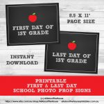 Free Printable Photo Prop Grade Signs For Back To School (First   Free Printable Signs