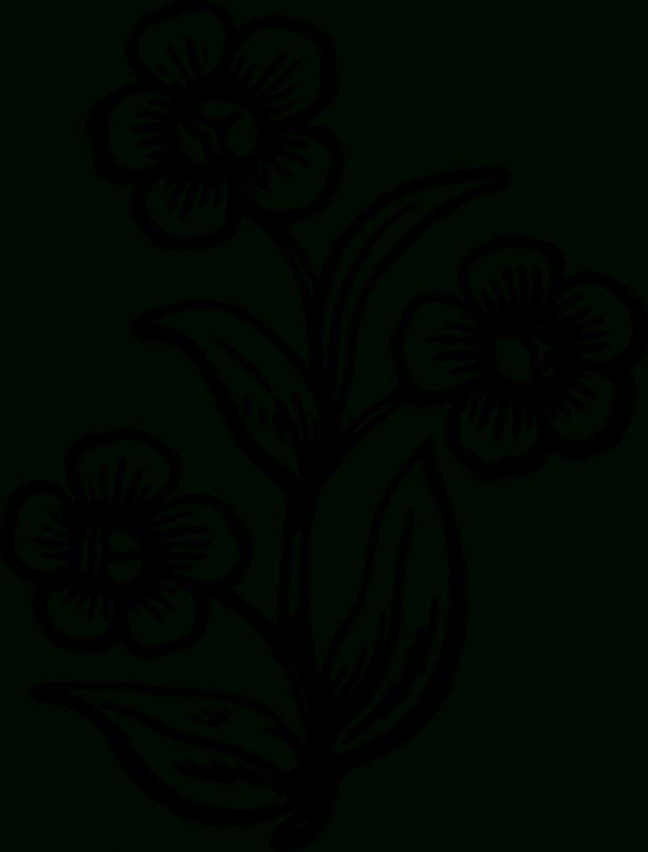 Free Printable Flower Stencils