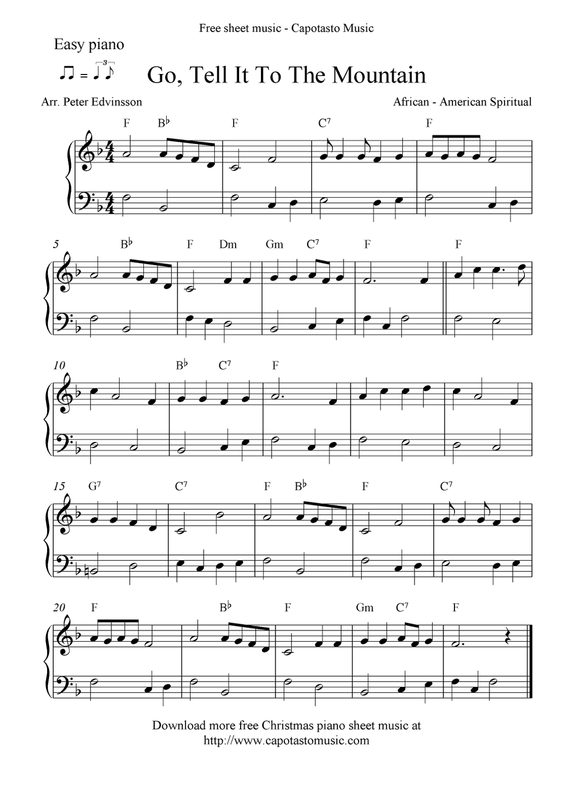 Free Printable Piano Sheet Music   Free Sheet Music Scores: Easy - Christmas Songs Piano Sheet Music Free Printable
