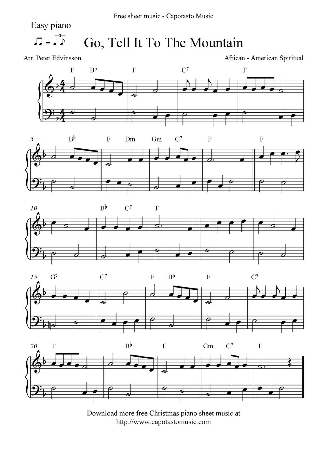 Free Printable Piano Sheet Music | Free Sheet Music Scores: Easy - Free Printable Piano Pieces
