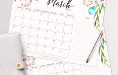 Free Printable Planner – 2017 March Calendar With Beautiful – Free Printable Agenda 2017