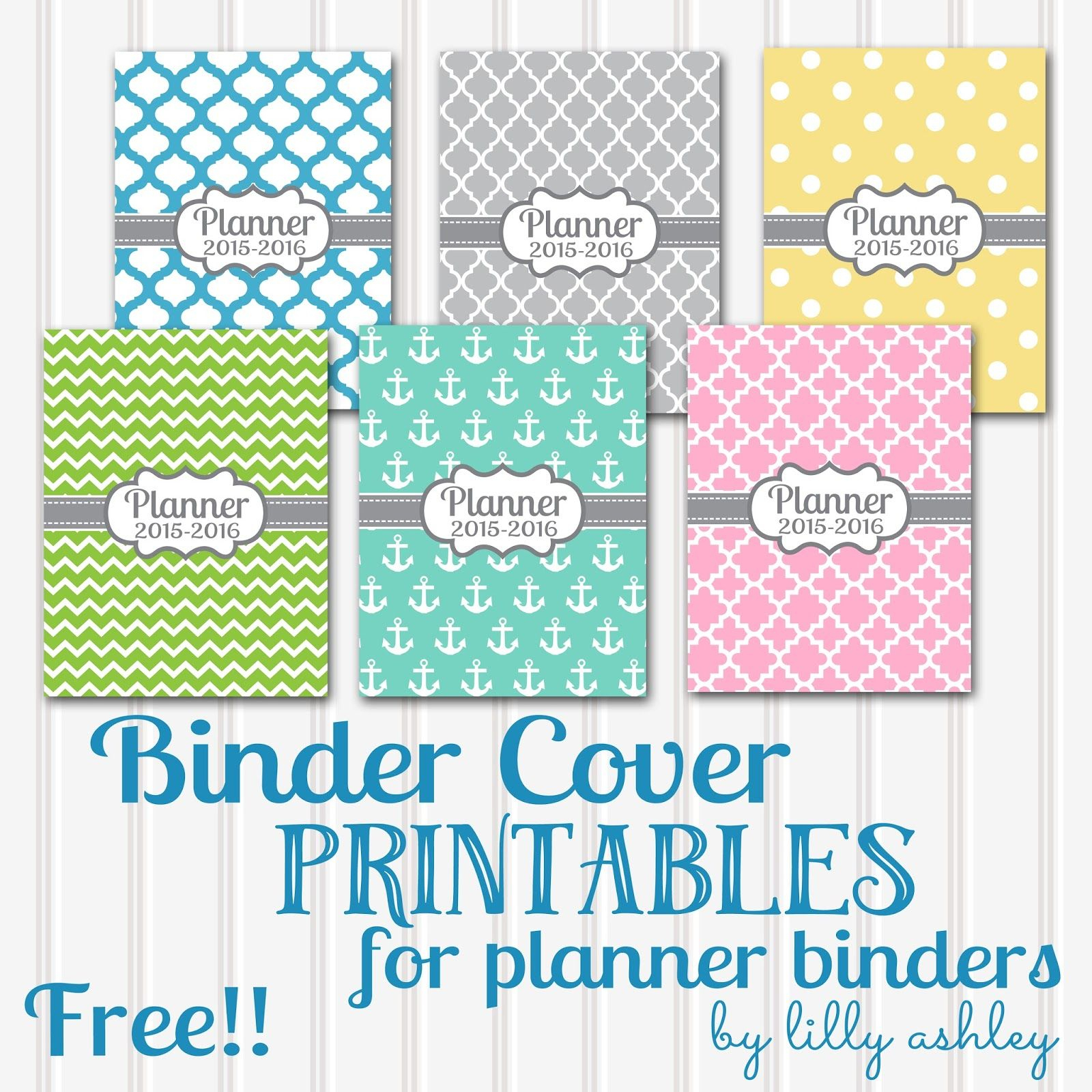 Free Printable Planner Coverssix Styles!   Planners And - Free Printable Binder Covers And Spines