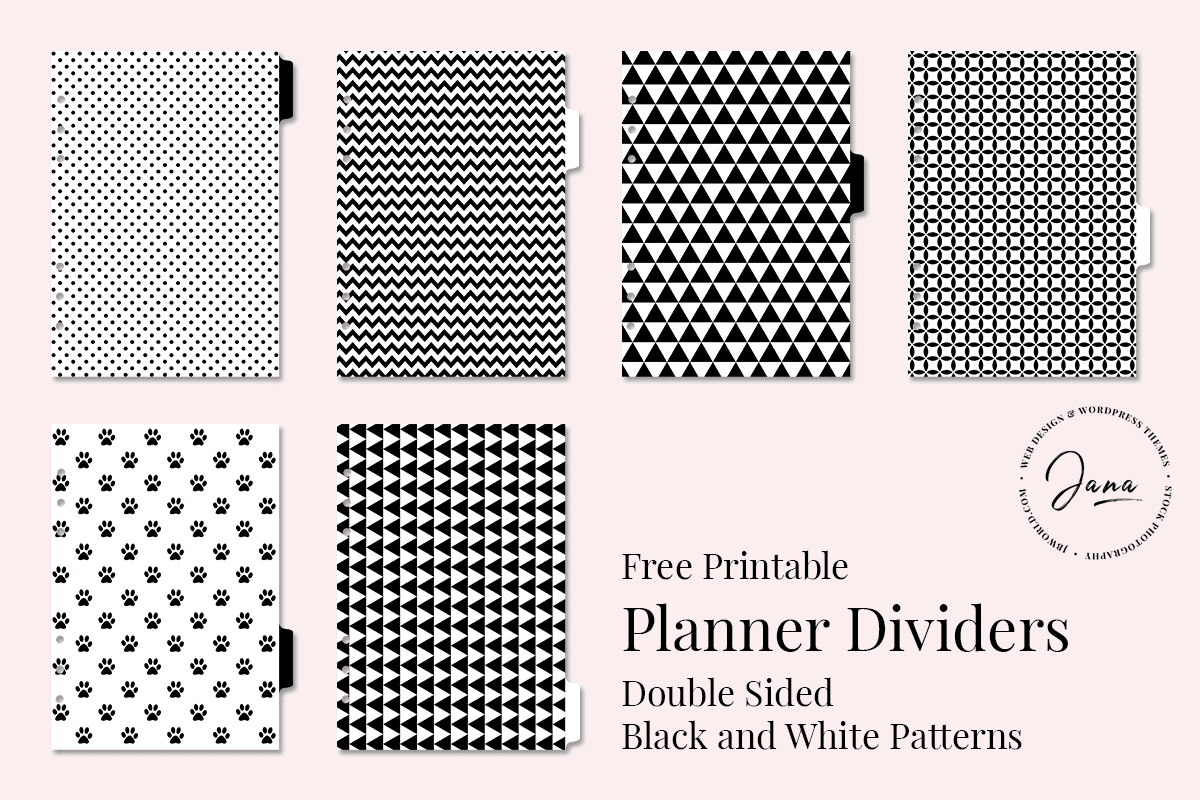 Free Printable Planner Dividers – Jana Branecka - Free Printable Dividers