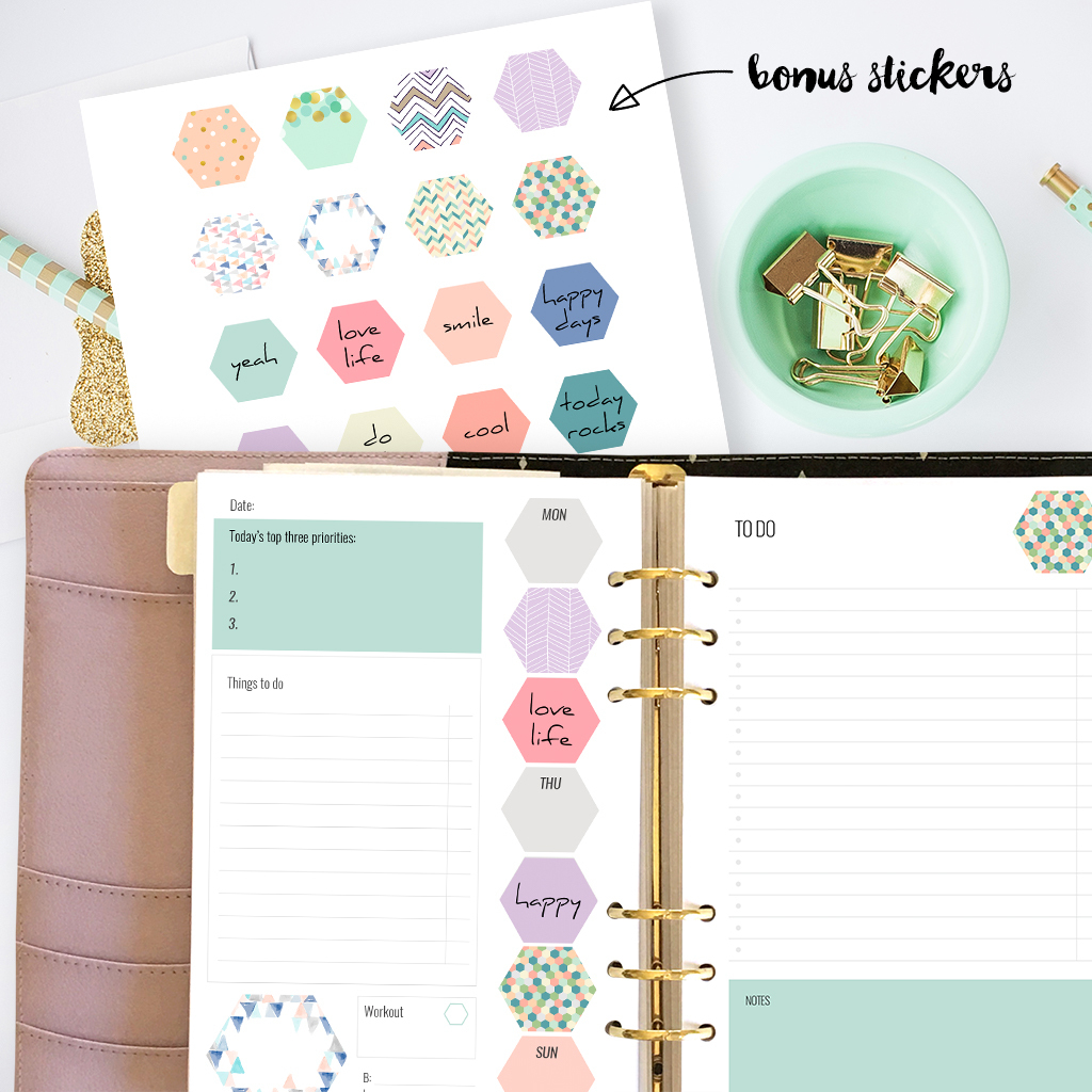 Free Printable Planner Inserts For Large Planners Plus Bonus Planner - Free Printable Planner Inserts