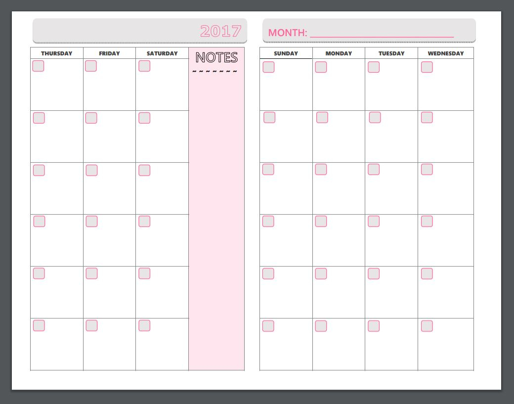 Free Printable Planner Pages - The Make Your Own Zone - Free Printable Planner Pages