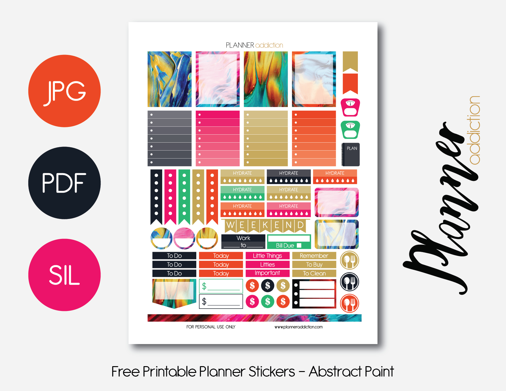 Free Printable Planner Stickers – Planner Addiction - Free Printable Planner Stickers