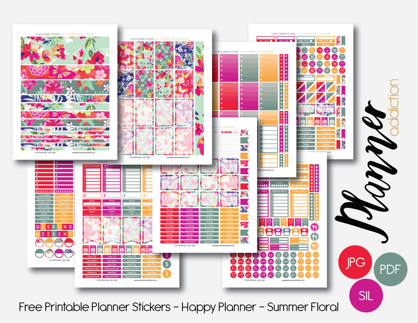 Free Printable Planner Stickers – Planner Addiction - Free Printable Stickers