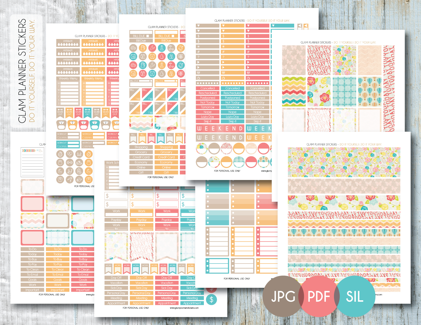 Free Printable Planner Stickers – Planner Addiction - Printable Erin Condren Stickers Free
