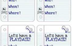 Free Printable Play Date Cards