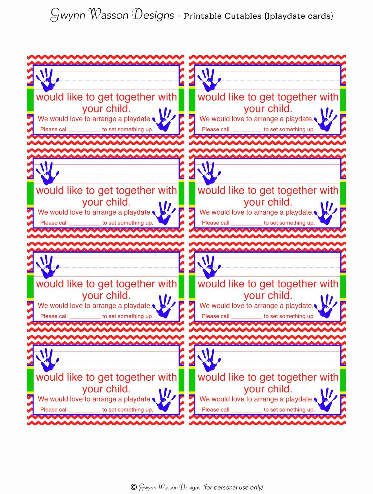 Free Printable Play Date Request Cards & Other Cute Printables - Free Printable Play Date Cards