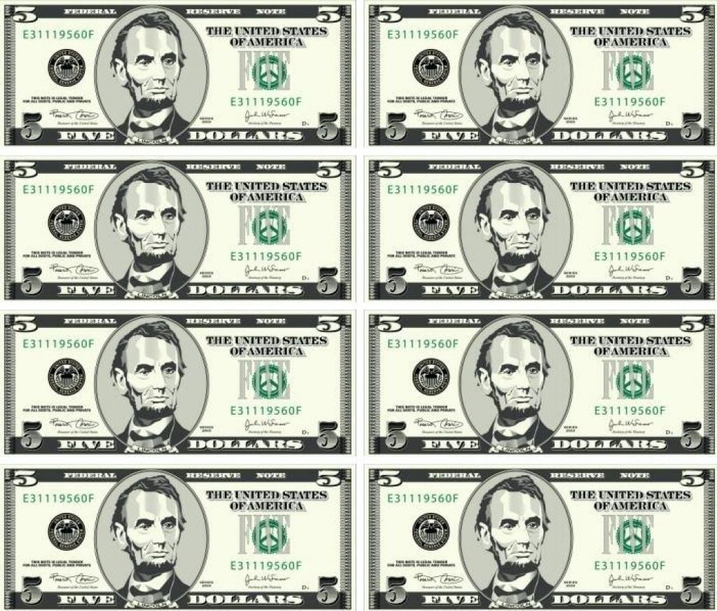 Free Printable Play Dollar Bills | Free Printable - Free Printable Play Dollar Bills