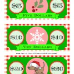 Free Printable Play Money Kids Will Love - Christmas Money Wallets Free Printable