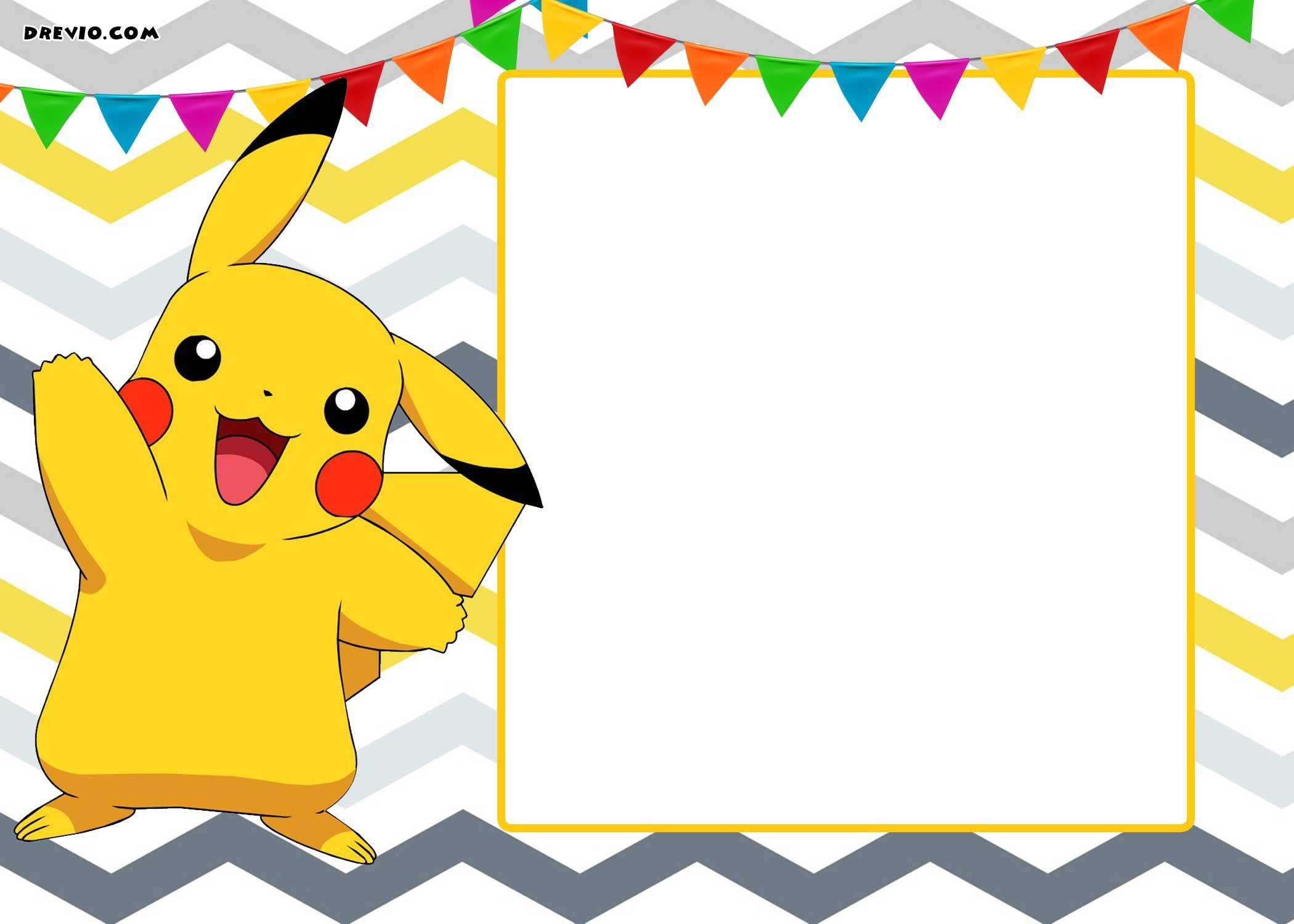 Free Printable Pokemon Invitation Templates   Free Printable - Free Printable Pokemon Birthday Invitations