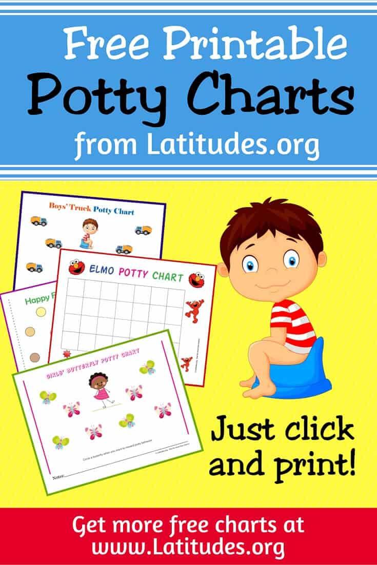 Free Printable Potty Training Charts For Boys And Girls | Acn Latitudes - Free Printable Potty Training Charts