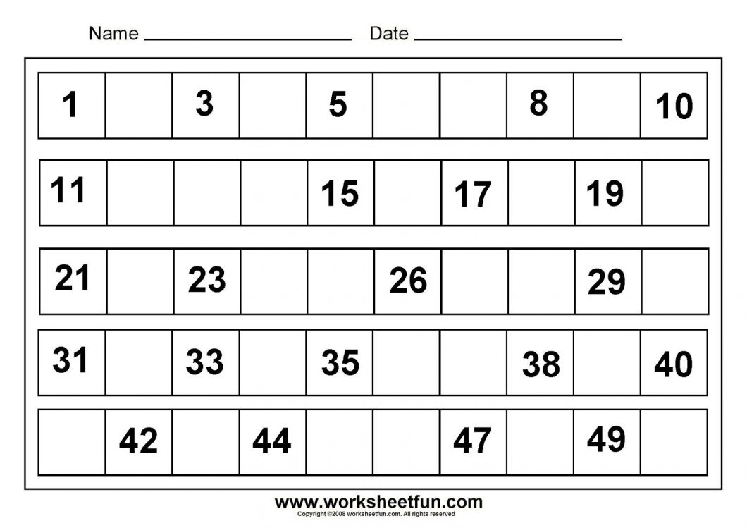 Free Printable Pre K Math Worksheets – With Maths Ks2 Also Preschool - Free Printable Math Worksheets For Kindergarten