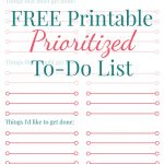 Free Printable Prioritized To Do List   Free Printable To Do Lists To Get Organized