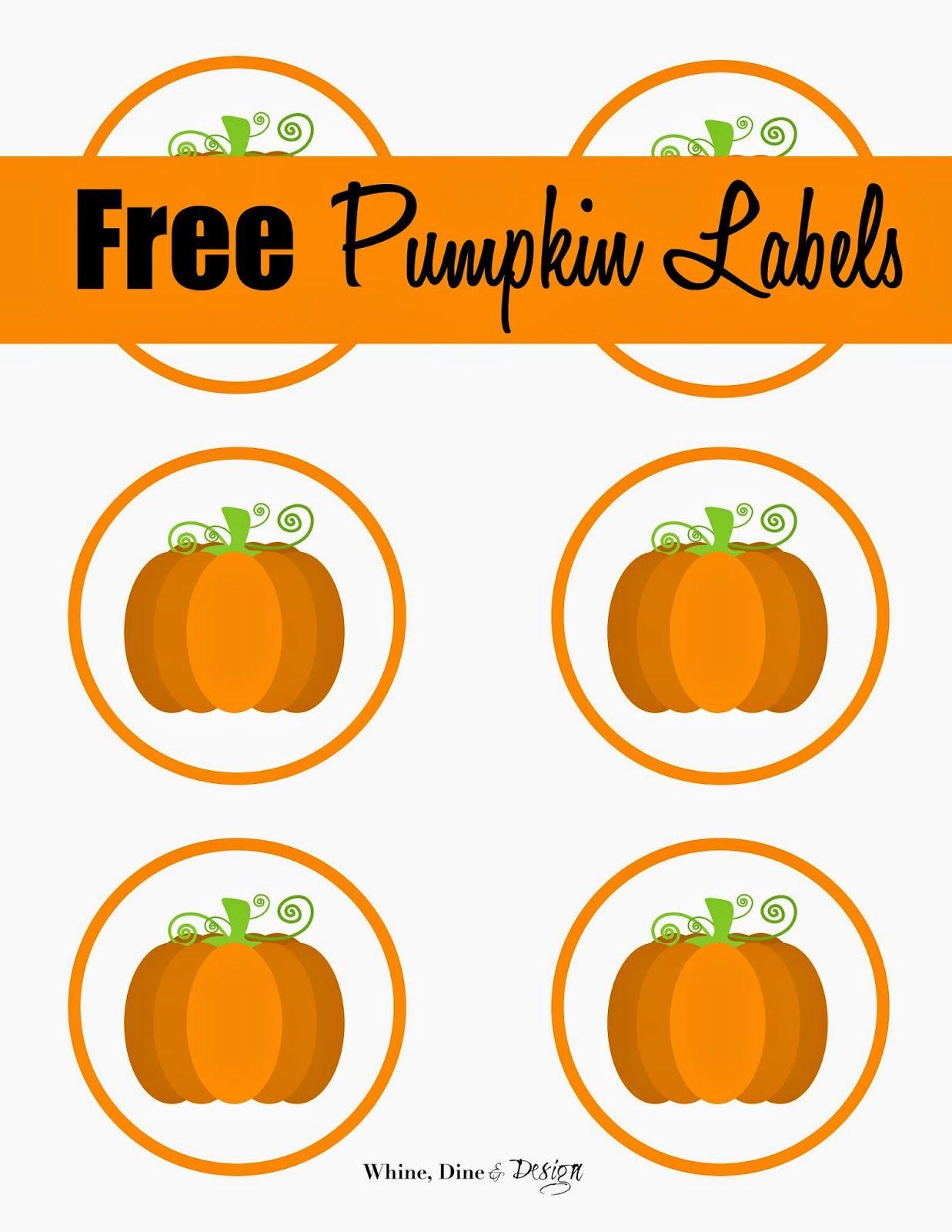 Free Printable Pumpkin Labels/cupcake Toppers   Craft Ideas/diy - Free Printable Pumpkin Gift Tags