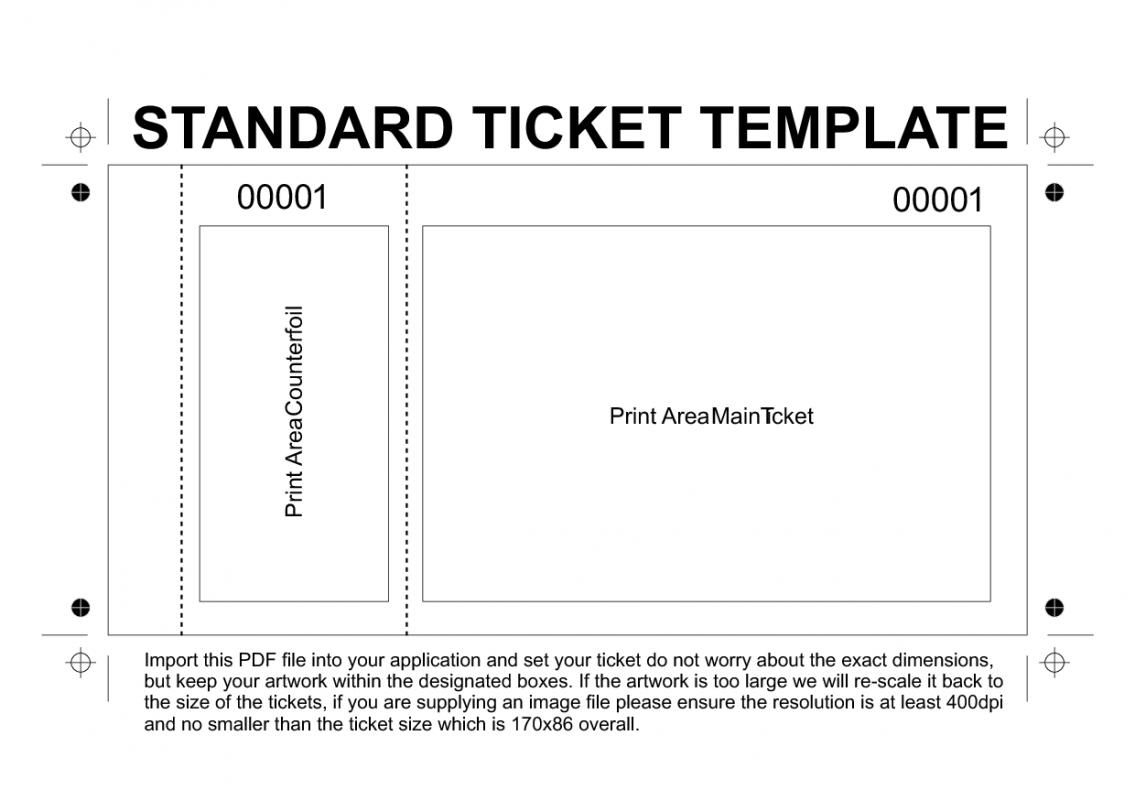 Free Printable Raffle Tickets Template   Template   Ticket Template - Free Printable Admission Ticket Template