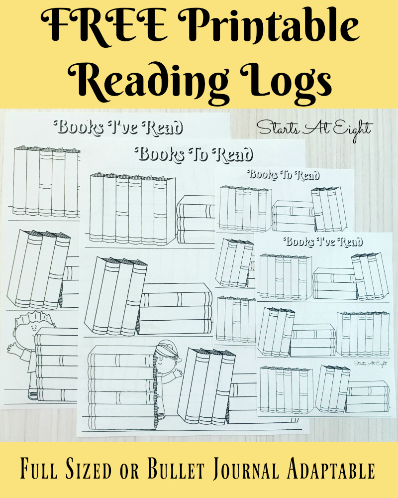 Free Printable Reading Logs ~ Full Sized Or Adjustable For Your - Free Printable Pre K Reading Books