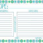 Free Printable Recipe Card, Meal Planner And Kitchen Labels   Free Printable Recipe Cards