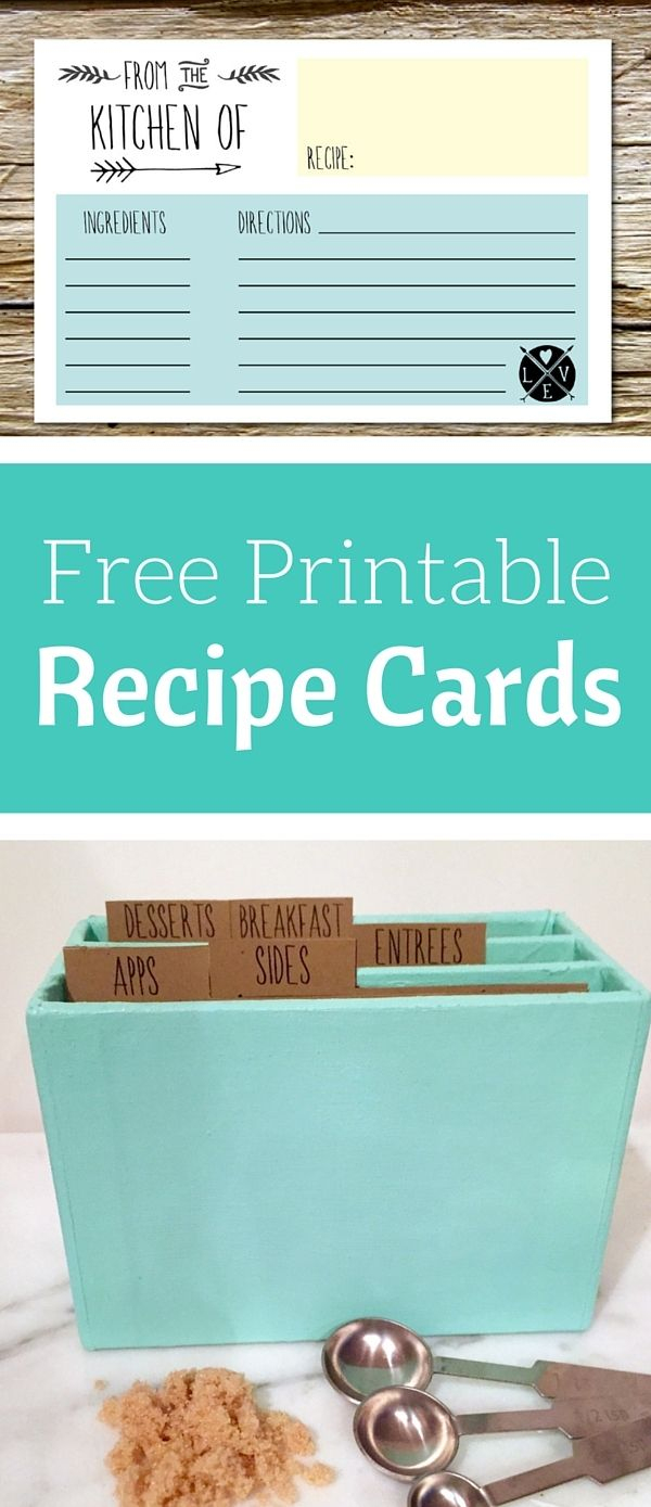 Free Printable Recipe Cards | Share Your Craft | Pinterest - Free Printable Recipe Dividers