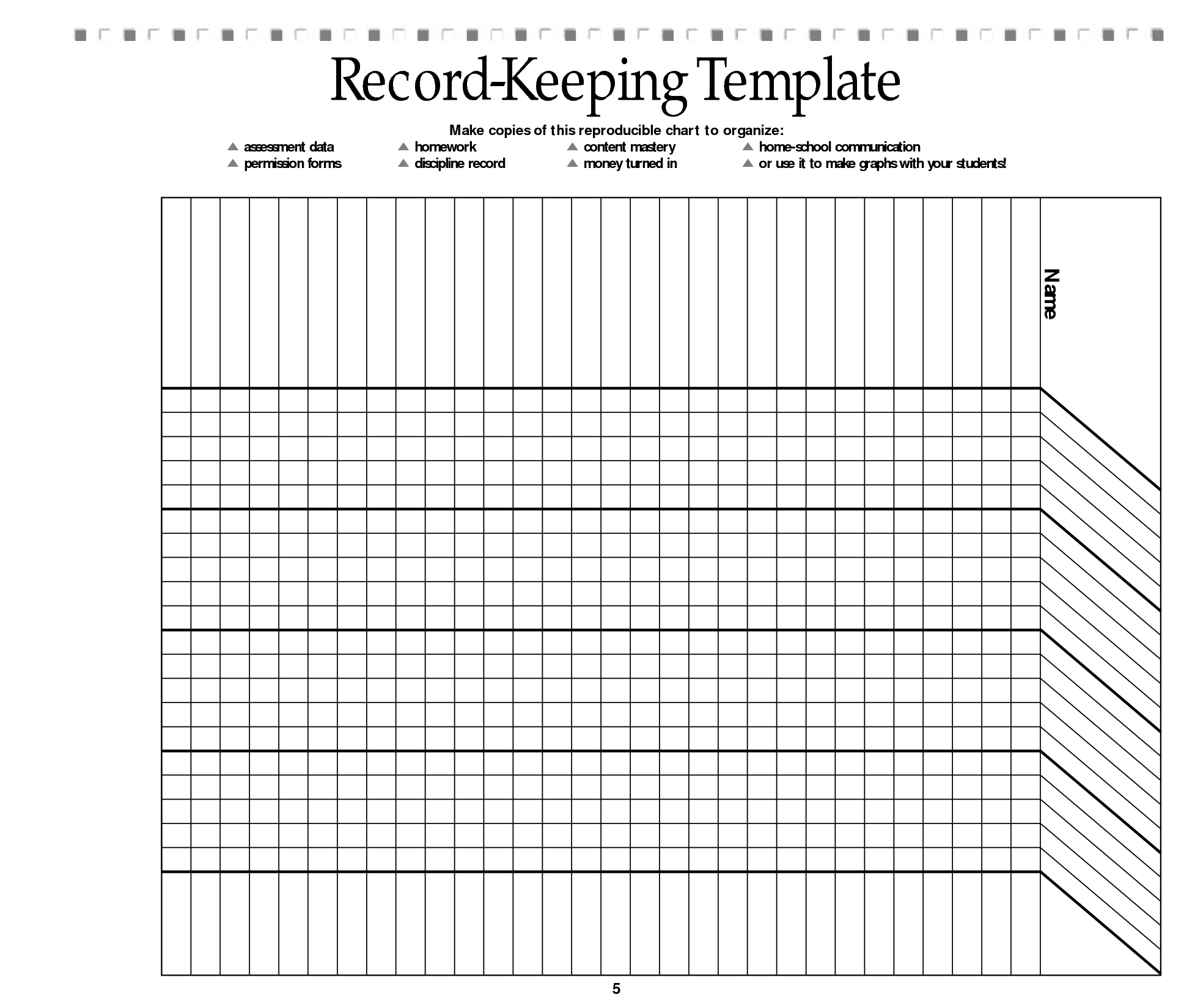 Free Printable Record Keeping Forms | Back To School | Pinterest - Free Printable Grade Sheet
