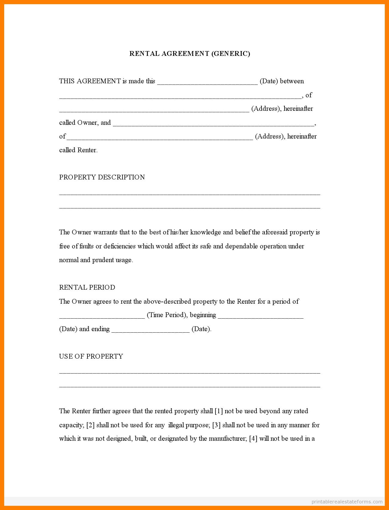 Free Printable Rental Agreement Forms   Bestprintable231118 - Rental Agreement Forms Free Printable