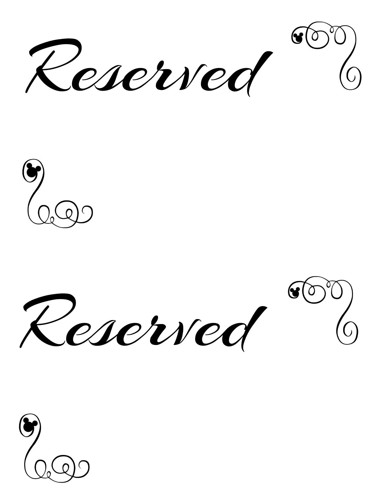 Free Printable Reserved Seating Signs For Your Wedding Ceremony - Free Printable Welcome Sign Template