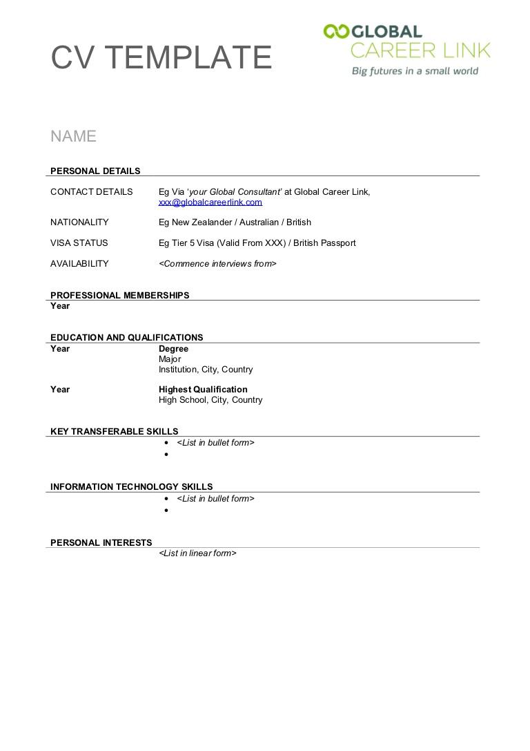 Free Printable Resume Template Blank Extraordinary Free Printable - Free Printable Resume Templates Microsoft Word