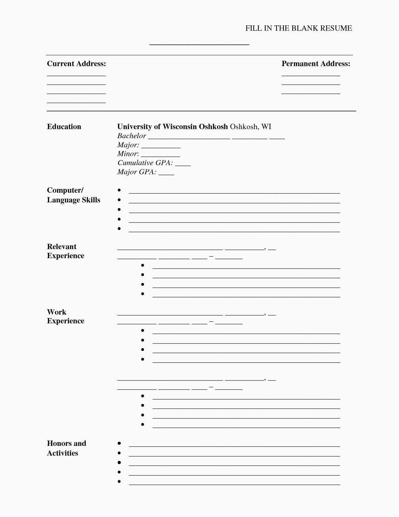 Free Printable Resume Template Inspirational 30 Free Microsoft Word - Free Printable Professional Resume Templates