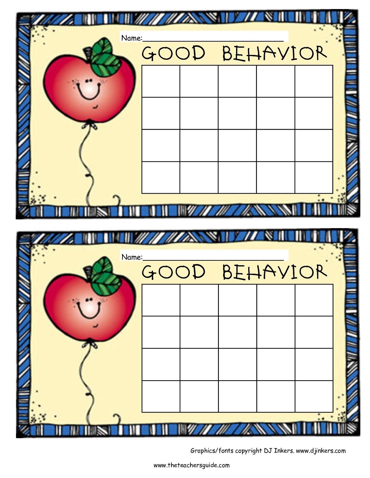 Free Printable Reward And Incentive Charts - Free Printable Behavior Charts
