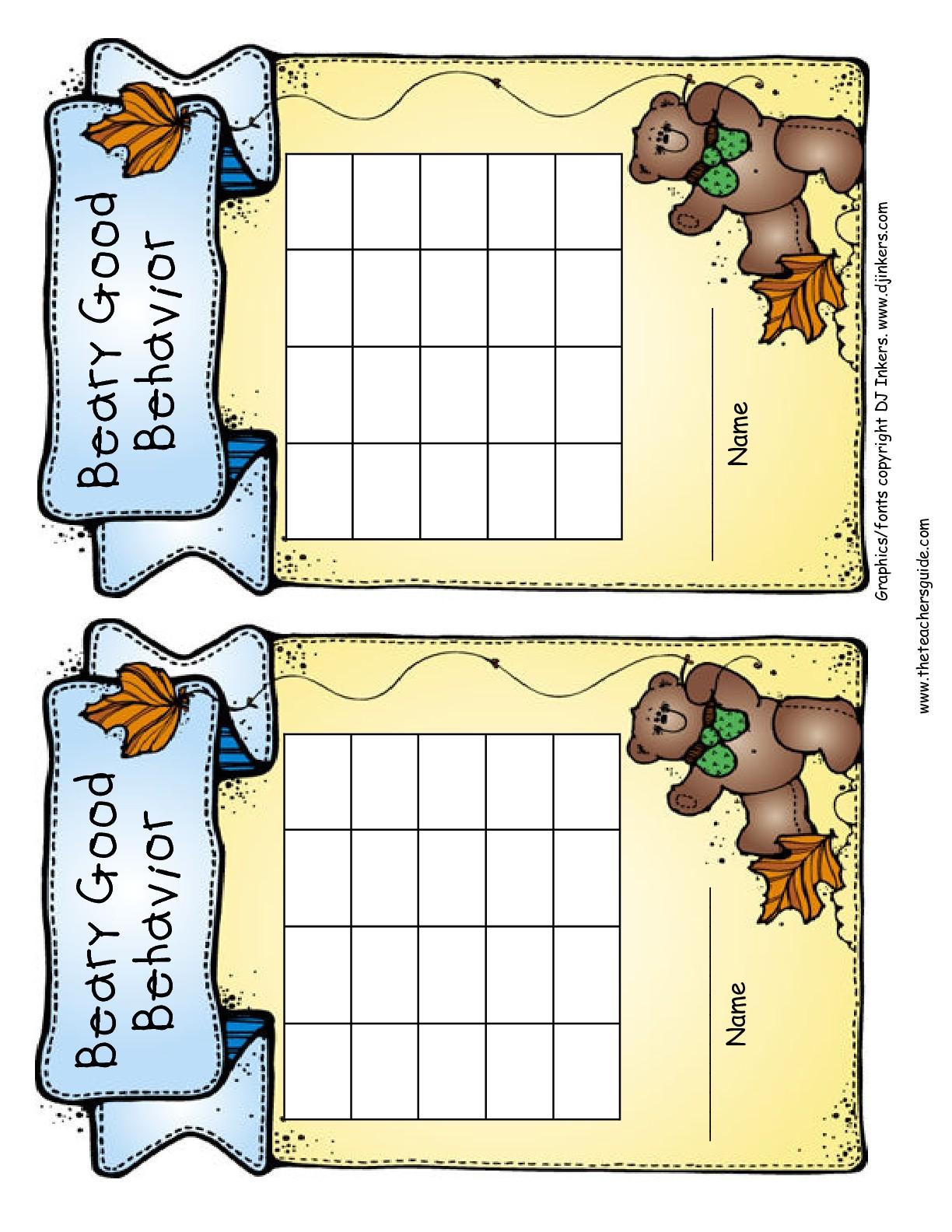 Free Printable Reward And Incentive Charts - Free Printable Charts For Classroom