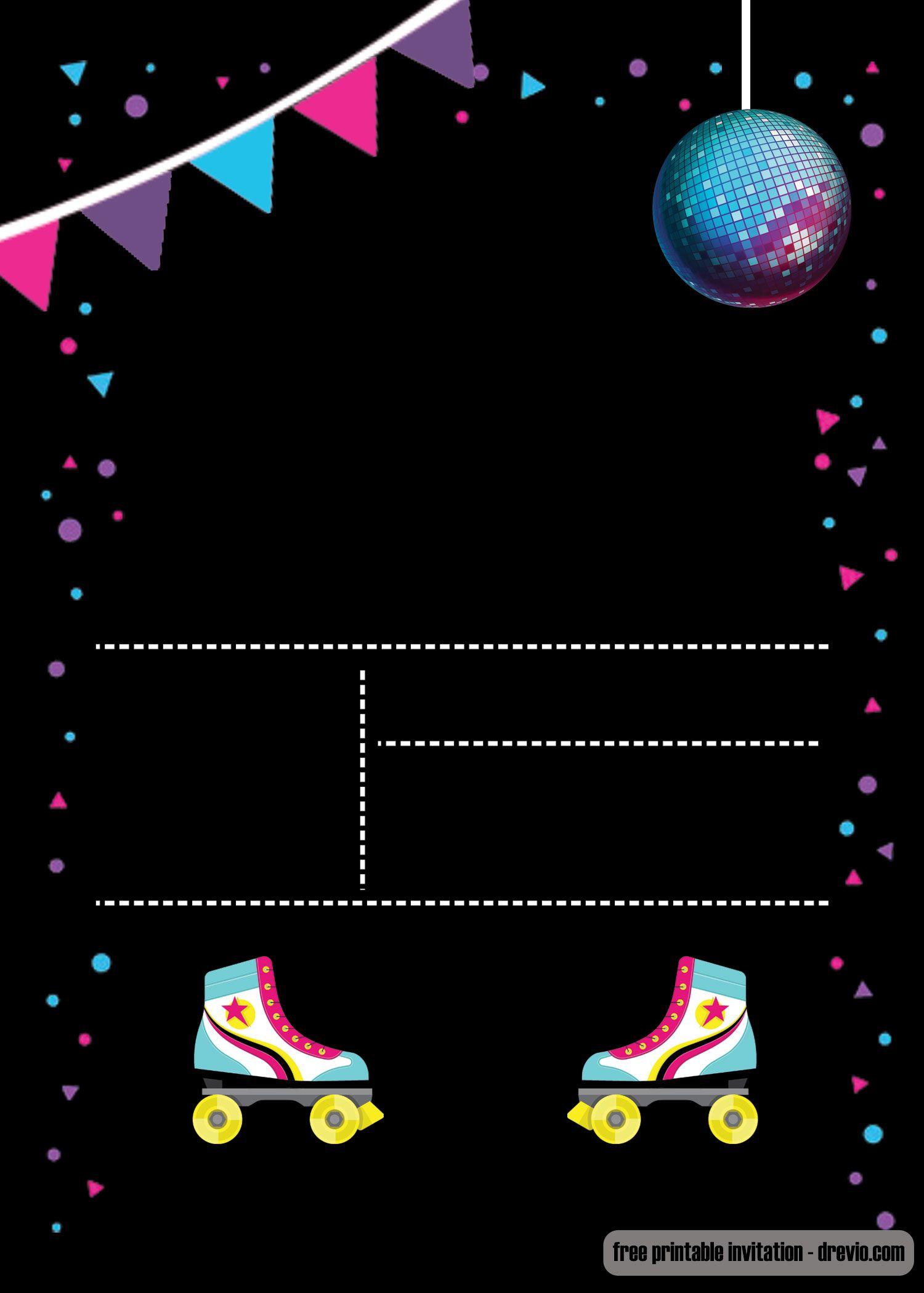 Free Printable Roller Skating Invitation Template | Invites - Free Printable Skating Invitations