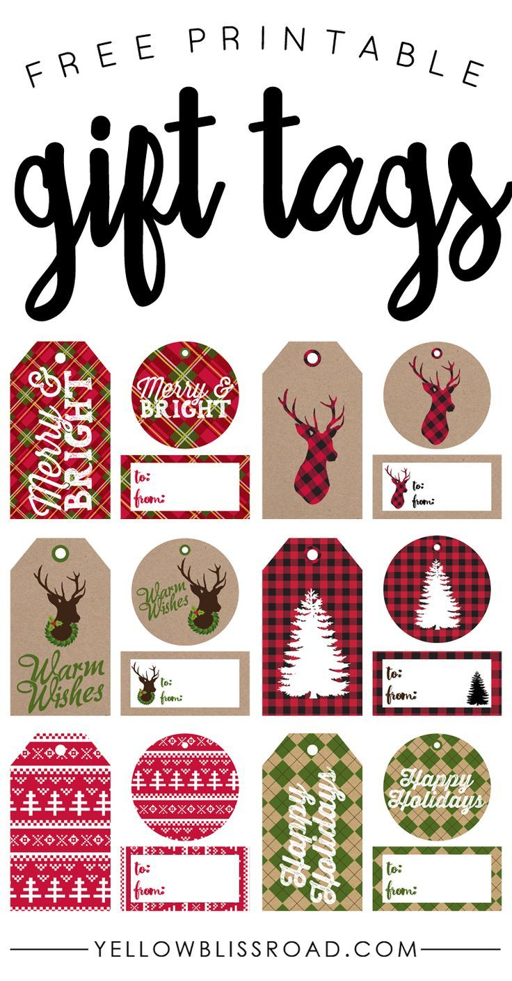 Free Printable Rustic And Plaid Gift Tags | Best Of Pinterest - Free Printable Santa Gift Tags