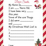 Free Printable Santa Letters For Kids | Holiday Ideas: Christmas   Free Printable Dear Santa Stationary
