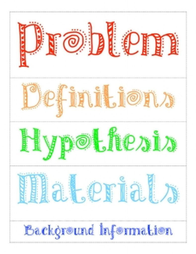 Free Printable Science Fair Project Board Labels | Free Printable - Free Printable Science Fair Project Board Labels