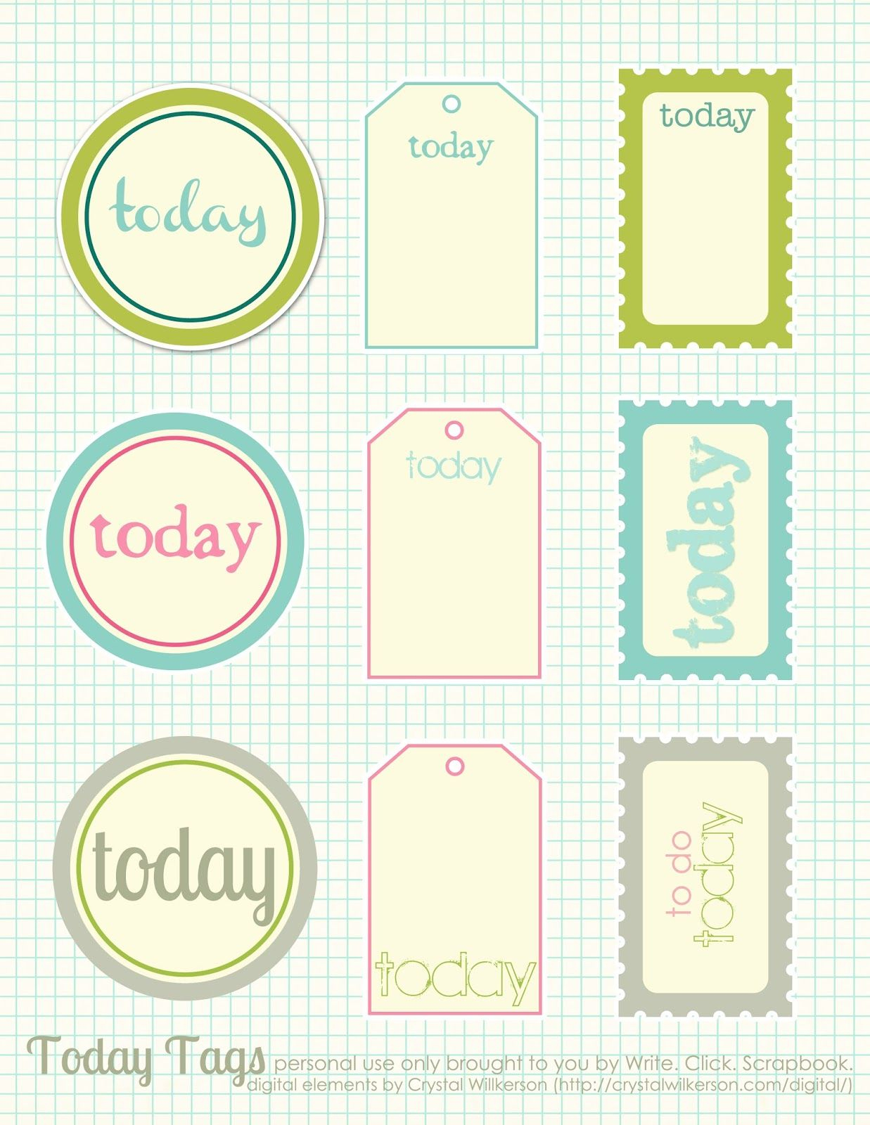 Free Printable Scrapbook Cutouts | Printable For All Topics - Free Printable Scrapbook Pages