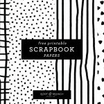 Free Printable Scrapbook Papers: Black And White Prints — Root   Free Printable Scrapbook Pages