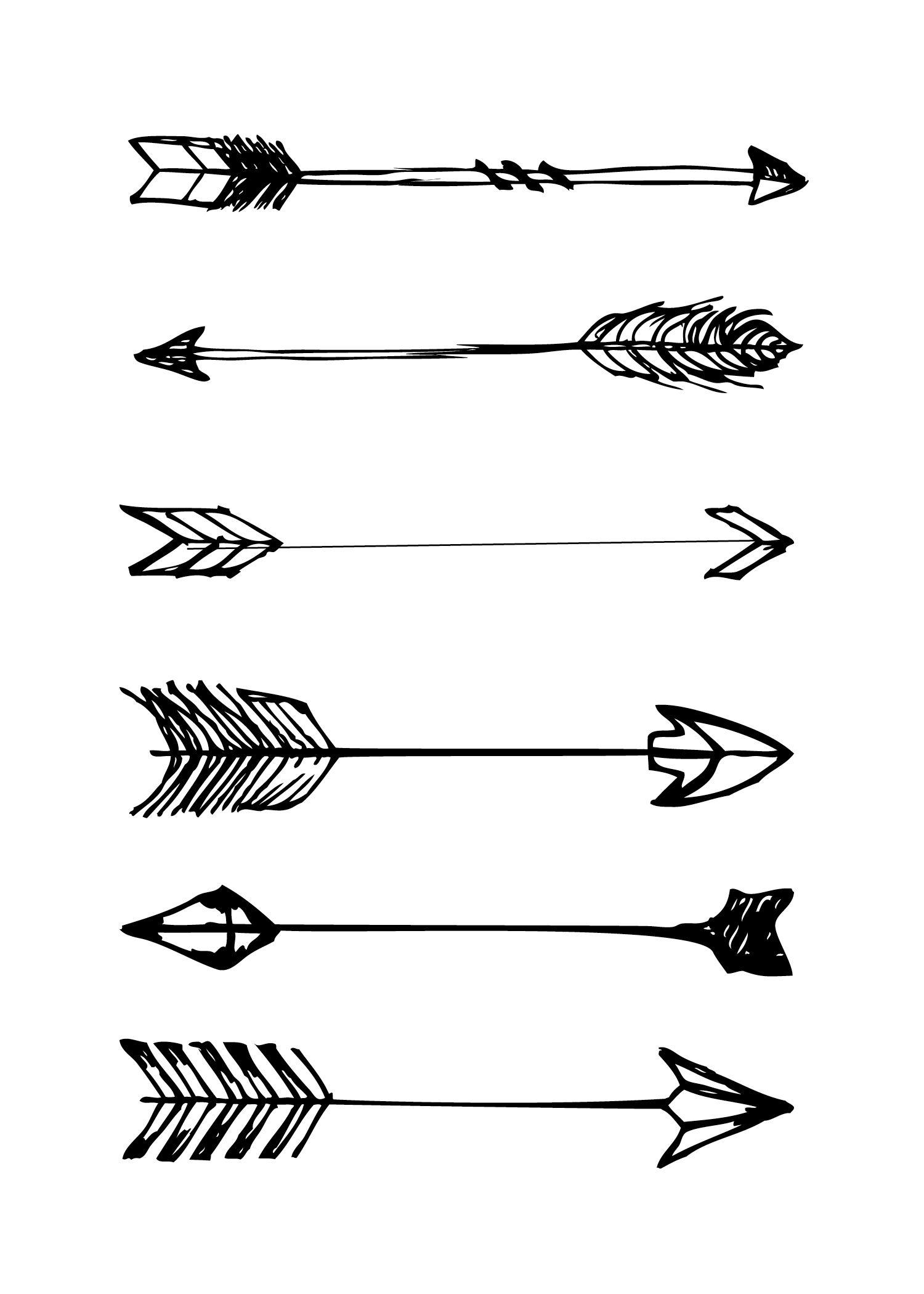 Free Printable … | Scrapbooking Scraps | Arrow… - Free Black And White Printable Art