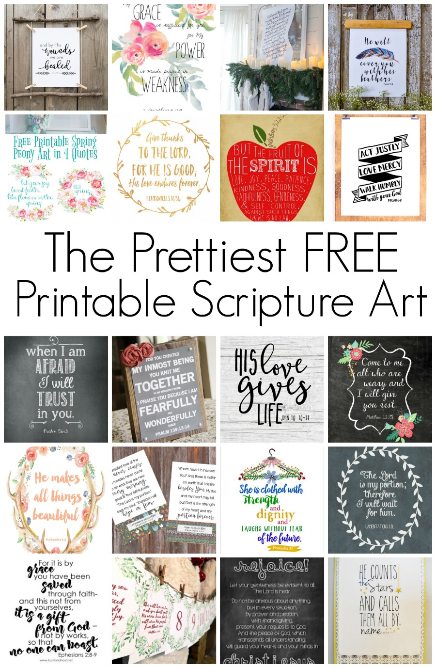 Free Printable Scripture Art - Hunt And Host - Free Printable Scripture Verses