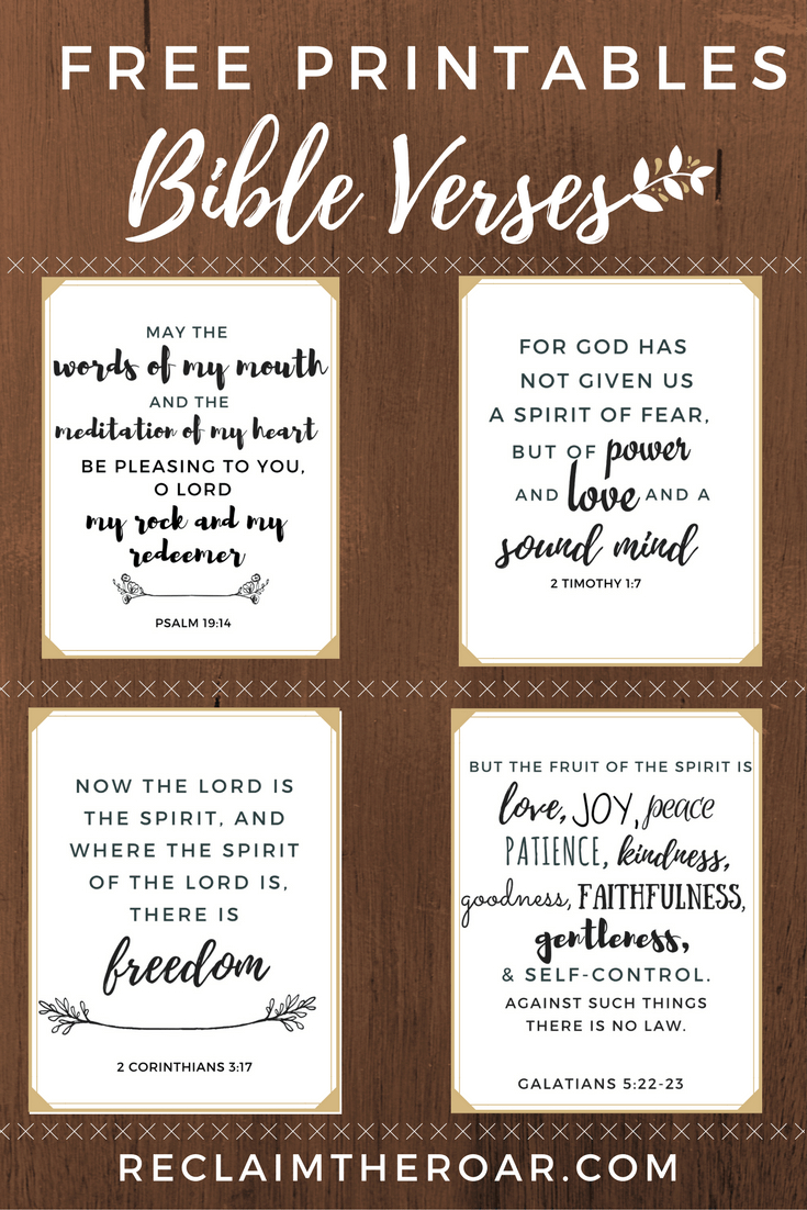 Free Printable Scriptures | Words | Pinterest | Printable Bible - Free Printable Scripture Verses