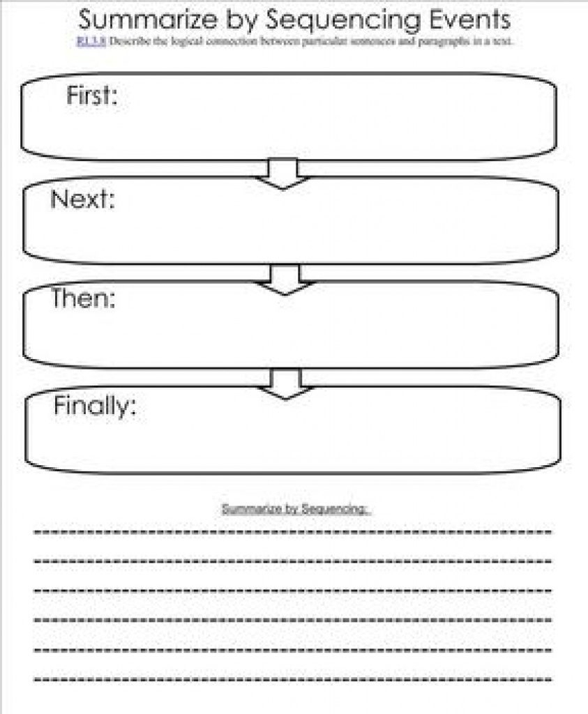 Free Printable Sequence Of Events Graphic Organizer | Free Printable - Free Printable Sequence Of Events Graphic Organizer