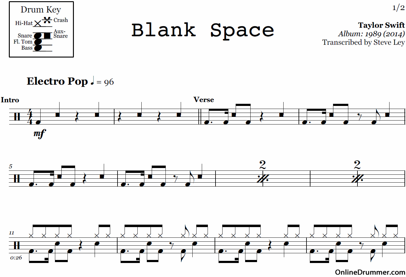 Free Printable Sheet Music For Drums   Download Them Or Print - Free Printable Drum Sheet Music