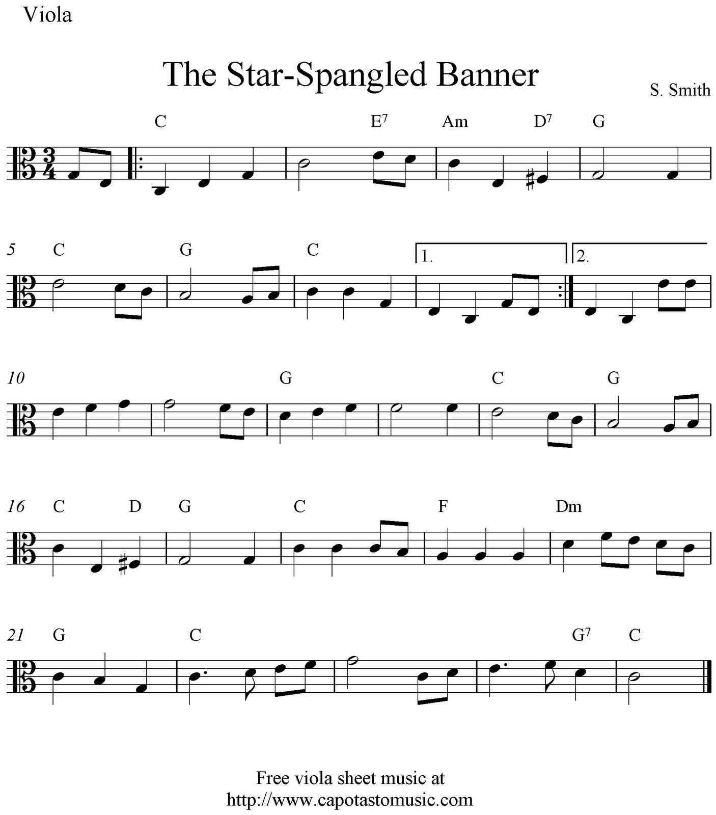 Free Printable Sheet Music Viola | Download Them Or Print - Viola Sheet Music Free Printable
