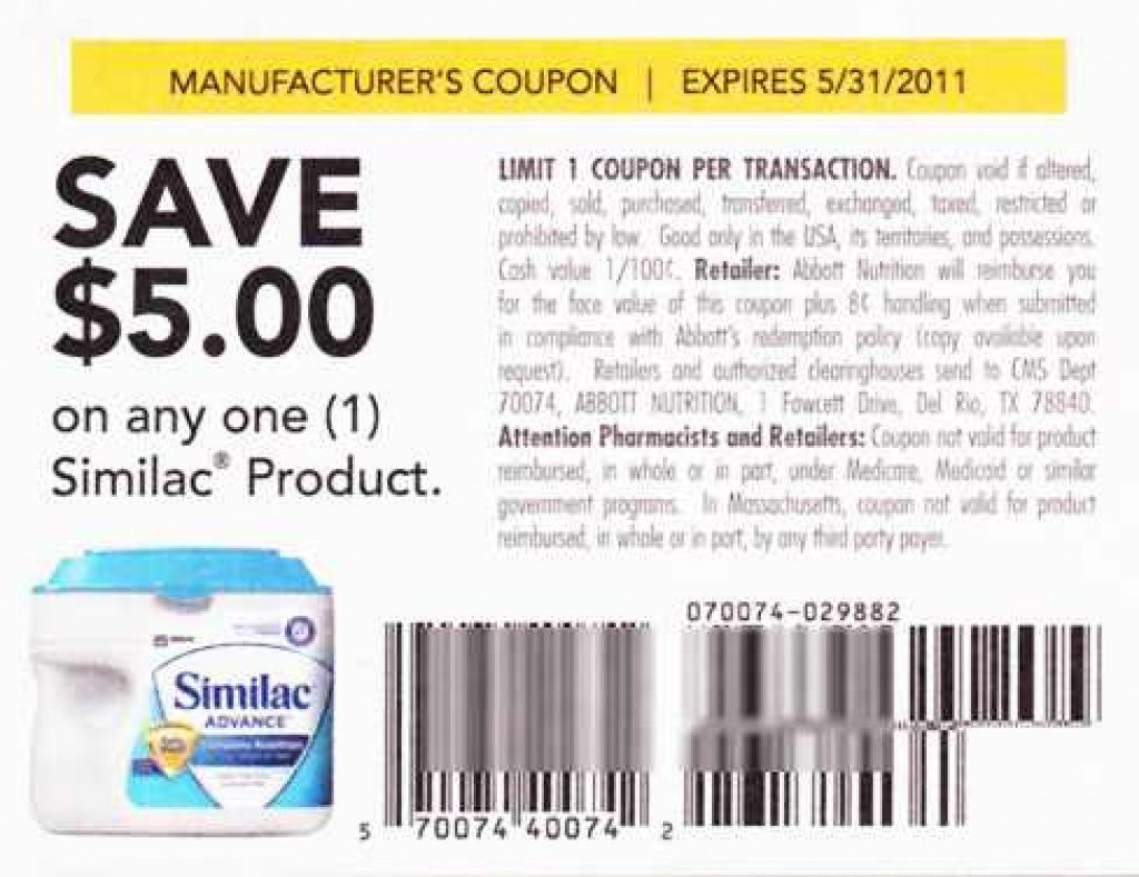 Free Printable Similac Sensitive Coupons | Free Printable - Free Printable Similac Coupons Online