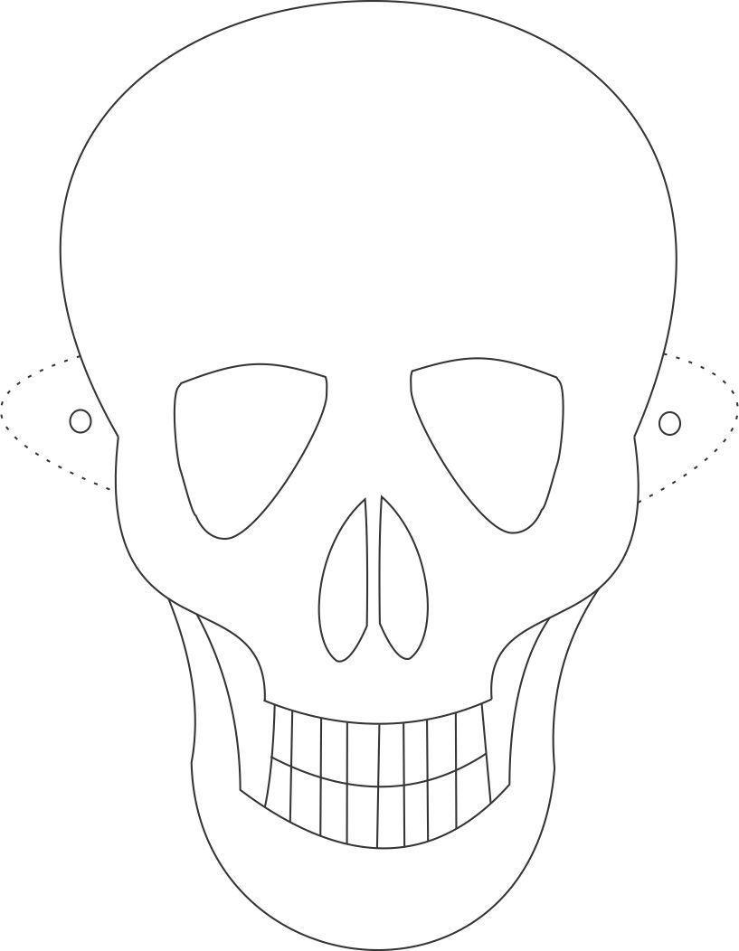 Free Printable Skeleton Masks | Tøj Mm. // Clothes & Accessorize - Free Printable Halloween Face Masks