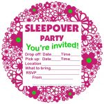 Free Printable Sleepover Party Invitations   Hundreds Of Slumber   Free Printable Event Invitations